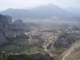 Photo of town below Meteora Monastery., Ralph R - March 2008