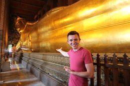 Temple of the Reclining Buddha, Asha & Brock - July 2013