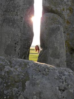 Kathryn peeking thru the stones!, Kristin S - June 2010