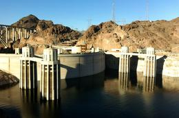 View from Arizona side of the Dam , Fi - January 2014
