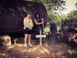 Visiting Meryl's grave with Daryl. , Maria R - September 2017