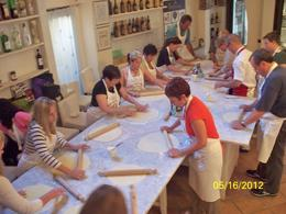 Rolling out the pasta dough. , Helen D - May 2012