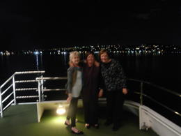 Sophia, Mcfanwee, and Lotza enjoying the night view. , Rita H - May 2013