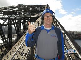 Greg Donaldson, ex Kalgoorlie and now East Fremantle May 29th 2014. On the famous Bridge. , Dono - June 2014