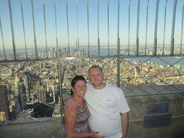 My wife and I enjoying the views, brilliant photo taken by our tour guide Jim. , Richard R - August 2013