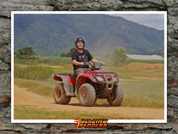 It's me in the photo, but i look stupidly happy when i was driving the quad bike! , JIAJUN GU G - April 2015