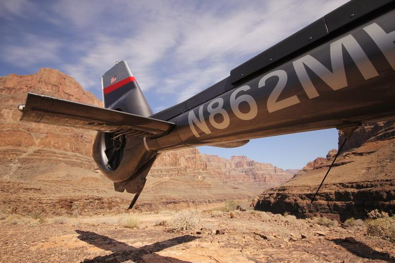 Helicopter on the Canyon floor - Las Vegas