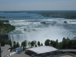 View from Hilton Hotel window of Niagara Horseshoe Falls , peter.butcher - June 2011