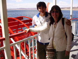 Chris and Emily from NJ enjoying a lunch time cruise on Lake Mead. , Craig - June 2012