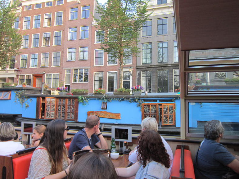 Passing the ubquitous house boats - Amsterdam