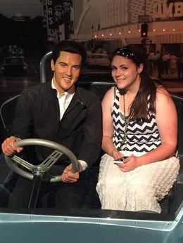Whitney driving off with THE Elvis Presley. , Ramiro M - June 2015