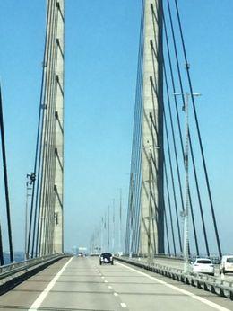 Bridge linking Malmo and Copenhagen , Israel A - November 2015