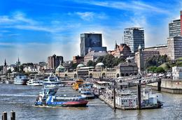 The port and harbour area of Hamburg is popular with tourists who can board boats and ferries for trips along the river. , David Lally - September 2016