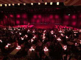 The view of the stage from our table. , Danielle R - November 2015