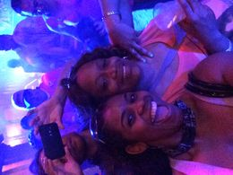 Tenecia and friends full of fun food and laughter on Captain Hook , Tenecia M - June 2015