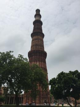 Qutb Minar or Minaret, built in 1200-1300's. Tallest brick minaret. , Bruce B - July 2017