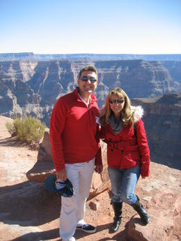 Louise and I at the edge of the West Rim , Paul G - March 2013