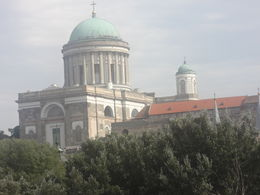 Basilica at Esztracom from the Danube river bridge , Douglas I W - September 2015
