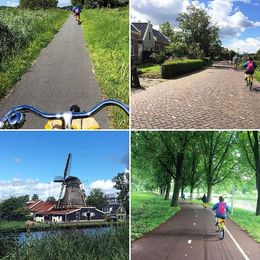 This trip made our trip to Amsterdam a memorable one! These are some captures of the 4 hour bicycle tour which I took down the road. , Chavith - August 2016