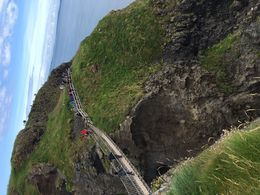My husband and I crossed the Carrick-A-Rede rope bridge! I am scared of heights so I had to make sure to look straight ahead and I had to walk very slowly, but the people manning the bridge were..., Jennifer C - August 2016