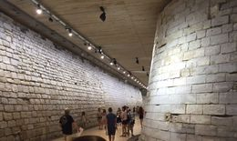 The cellar of the Louvre - where the moat once stood , rmmc07 - August 2016