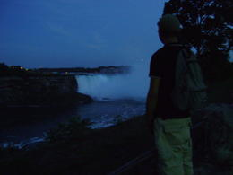 Niagara Falls view in the evening after arriving. , MK - August 2011