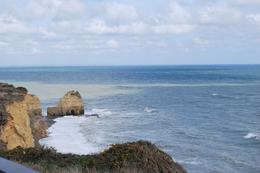 Looking out on the English Channel from Pointe du Hoc, Norman V - June 2010