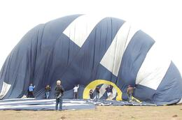 It's fun, helping deflate the balloon after we land., Michael B - March 2010