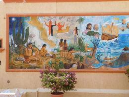 mural of history at Baja , Mariana G - October 2015