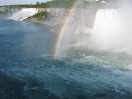 picture taken from the road looking down along the Falls and the Gorge with the American Falls in the distant , peter.butcher - June 2011