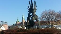 This was in a park near the Vistula River just beside the bus parking area , Catherine C - November 2013