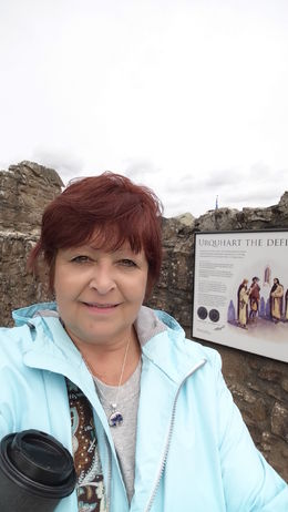 Me in front of Urquhart Castle , Cathy Hammond - September 2015