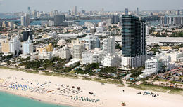 Aerial view of Miami Beach - May 2011