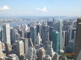 We took dozens of photos from the top. It is amazing you can see for miles and the skyscrapers close up just look like toys! , Sheila - July 2011