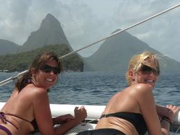 Met Kristy on the boat, we had a great time sunning and drinking rum punch, Jennifer S - June 2010