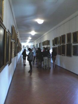 Vasari Corridor, the secret passage way used by the Medici family to cross the river Arno from the Pitti Palace to the Vecchio Palace unseen by the people of Florence , Patricia W - June 2016