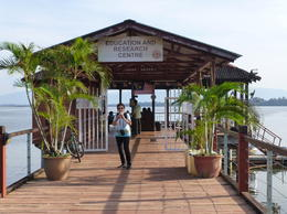 Entrance to ferry terminal to Orangutan island , Marion B - January 2017