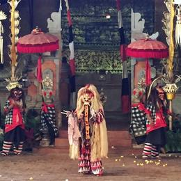 Scene from a traditional Balinese dance , Kelly M - September 2017