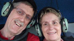 In the helicopter going to the Great Barrier Reef. , David L - February 2011