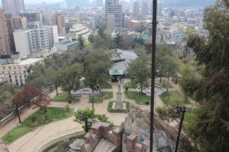 Looking down - Santiago