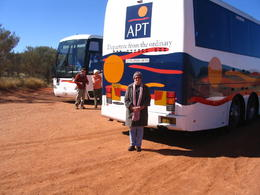 Changing buses on our way to alice springs , Sandra R - June 2011