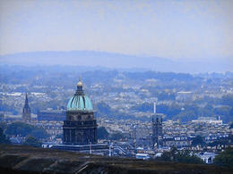 Edinburgh Castle commands a spectacular view of the city of Edinburgh. , Karen G - September 2014