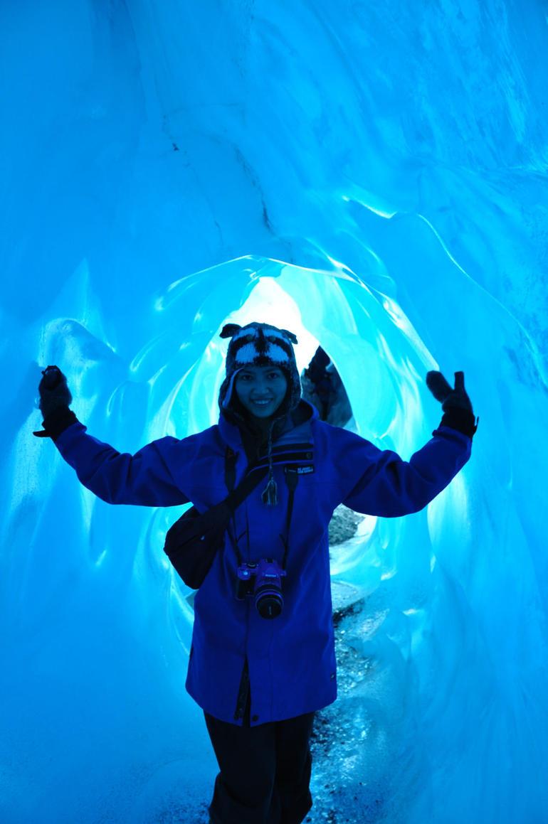 Blue ice cave! - Franz Josef & Fox Glacier