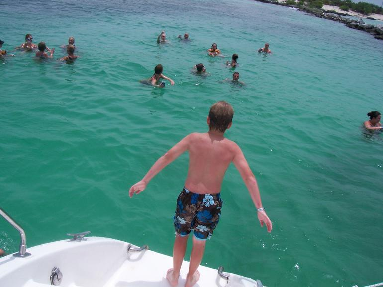 Jumping off the Boat - Playa del Carmen