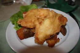 Fried chicken with some potatoes. , Stephanie R - March 2011