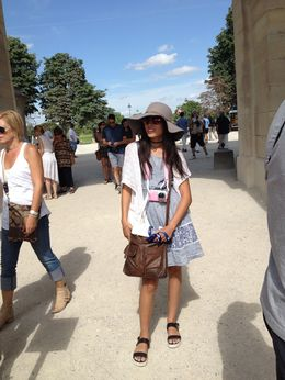 We are ready to start our tour, this is Sydneys first Louvre tour..... She loved it! , judith w - July 2015