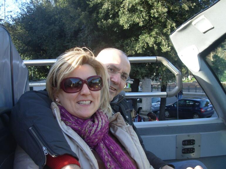 ON THE DOUBLE DECKER BUS - Rome