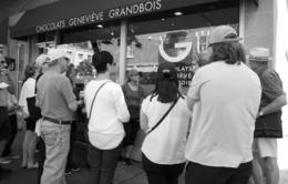 This group gathered outside the chocolate stop. If you love or know someone who loves chocolate, this is a must see shop. , Mila G - September 2016