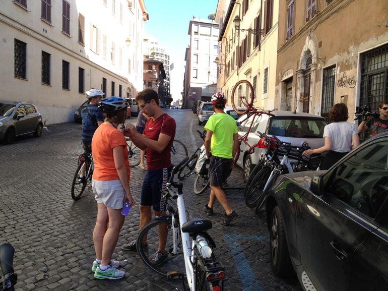Prepping for the ride. - Rome