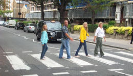 Recreating The Beatles' Abbey Road album cover - November 2011